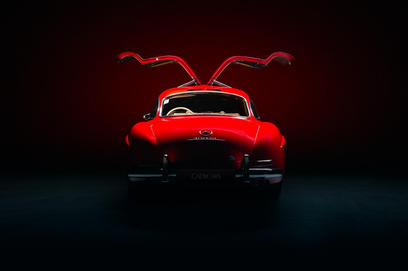 automotive   Automotive Photography car car photography commercial mercedes-benz Moody red Retro supercar