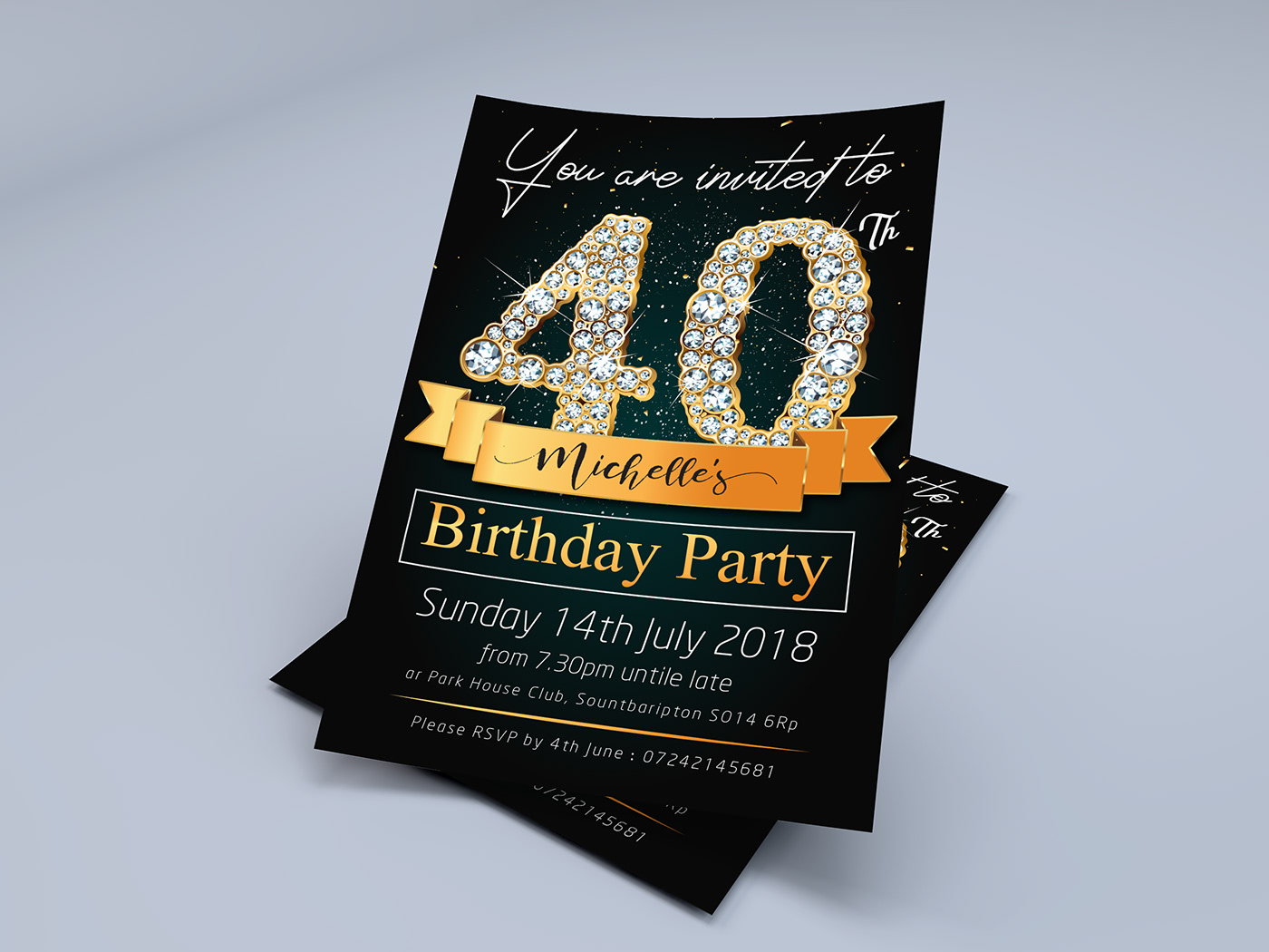 Save-The-Date, Birthday Invitation Template on Behance
