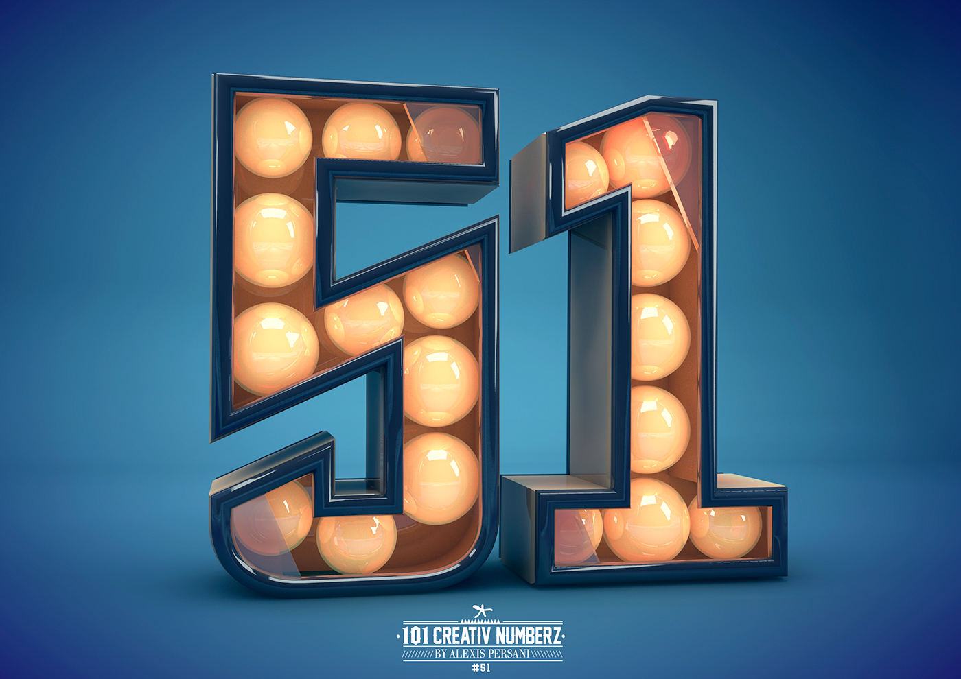 Outstanding 101 Creative Numbers Typography by Alexis Persani 47