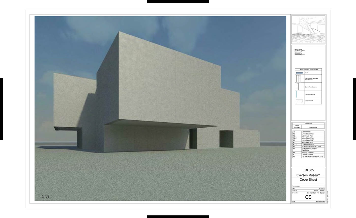 The Everson Museum In Revit 2011 On Behance