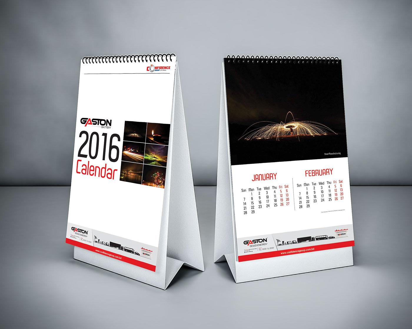 極美的18套日曆設計欣賞