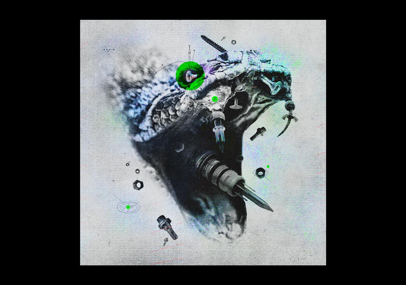 collage Cover Art dark graphic art Photo Composite photomanipulation photomontage photoshop surreal ILLUSTRATION
