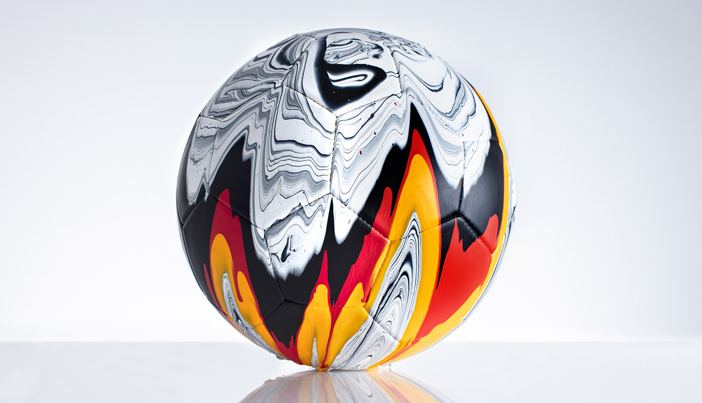art artwork ball euro2020 football paint painting   pouring soccer typography