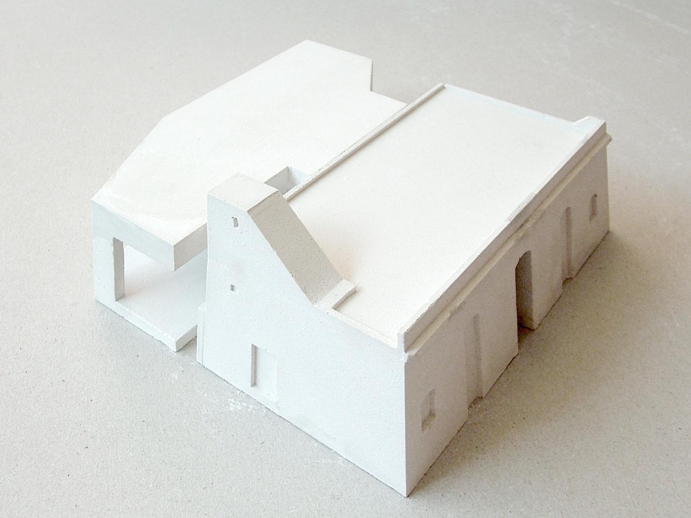 plaster model architectural model maquette housing belgium vlaanders 1:50 1:100 hand made