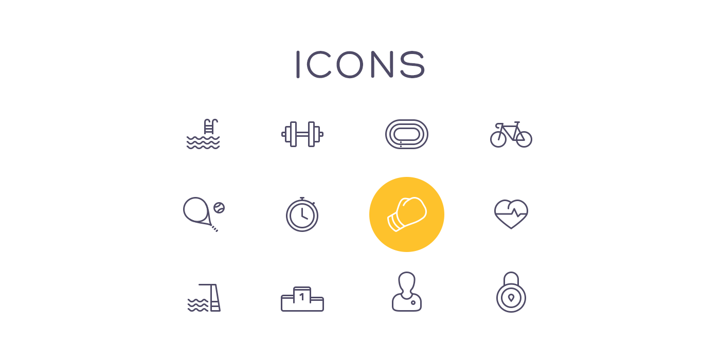 material design user experience user interface interaction UX UI gym swimming fitness tracker calories lifestyle scoreboard dashboard sport stats iphone app ios application counter