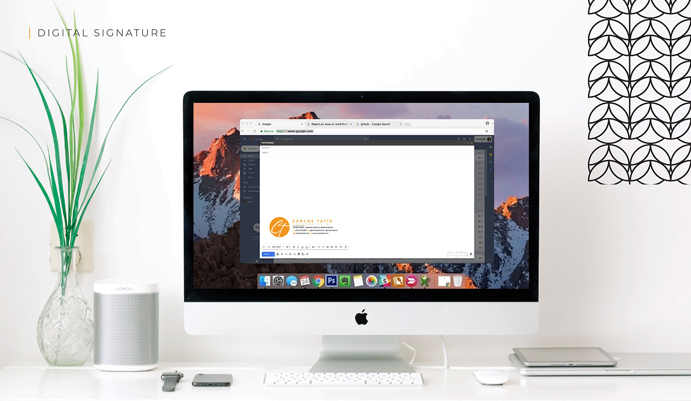 Brand Design business Coach corporate logo marca minimal modern simple visual identity