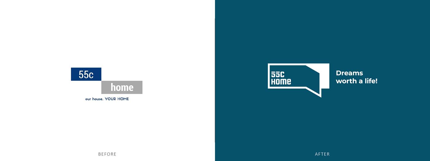 vietnam Branding design Home Brand homstay house branding Logo House logo home