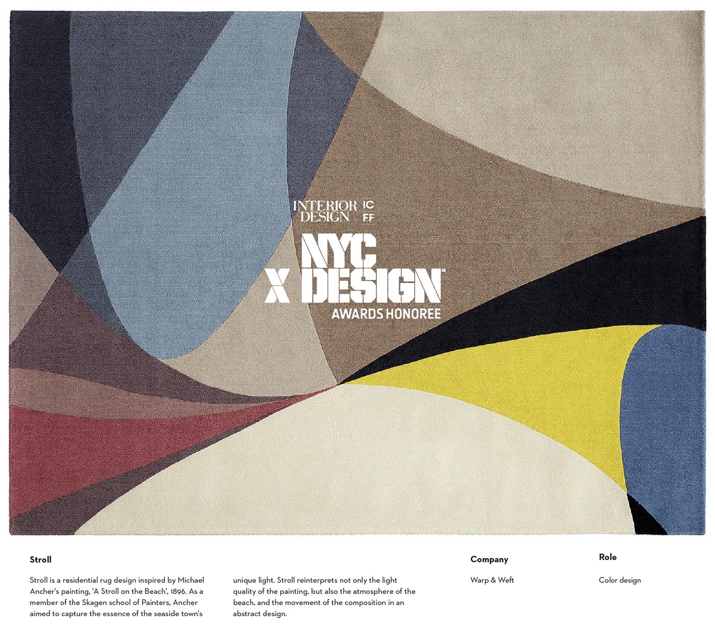 Color Design NYCxDesign rug design