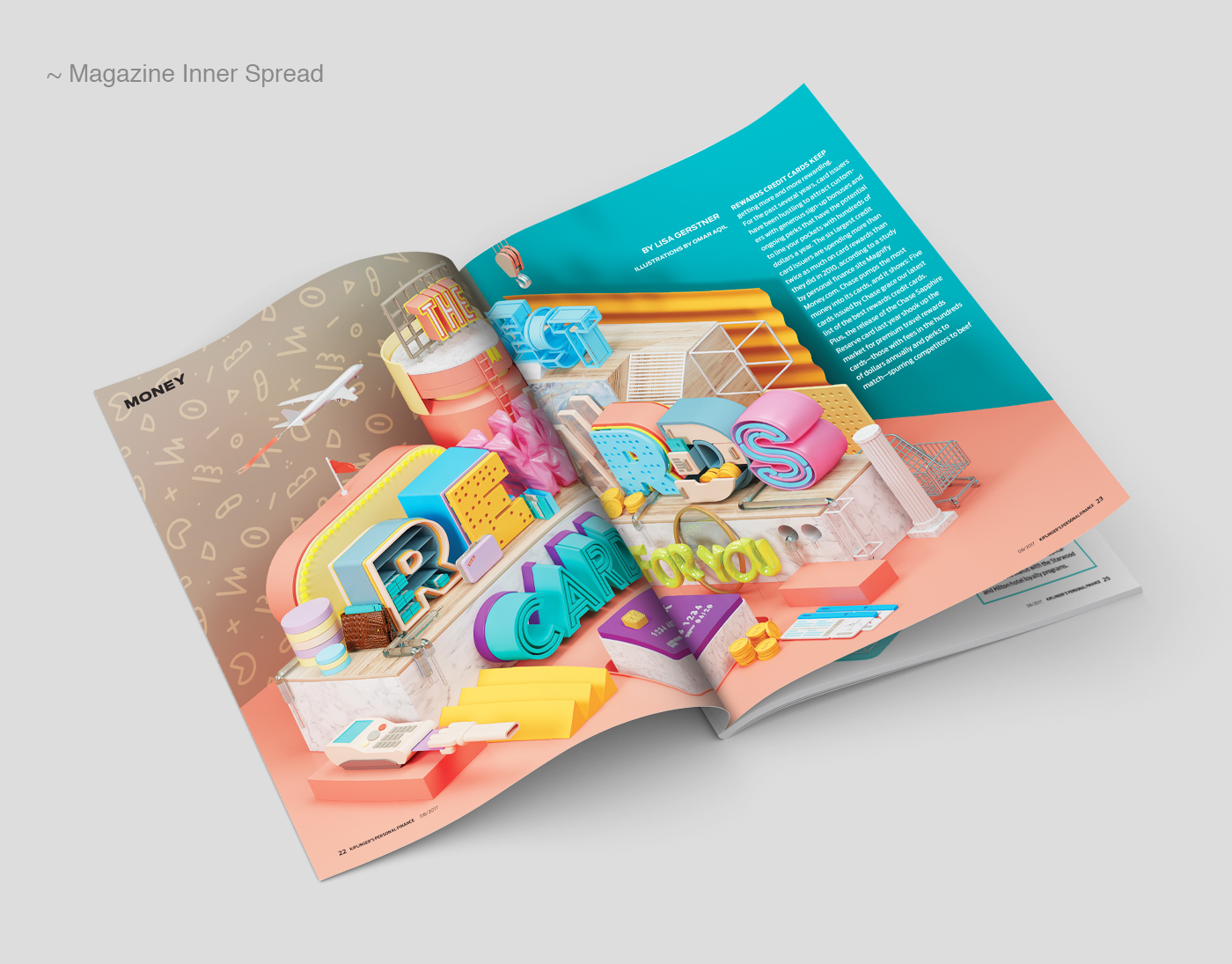Illustration & CGI: Kiplinger Magazine Spread