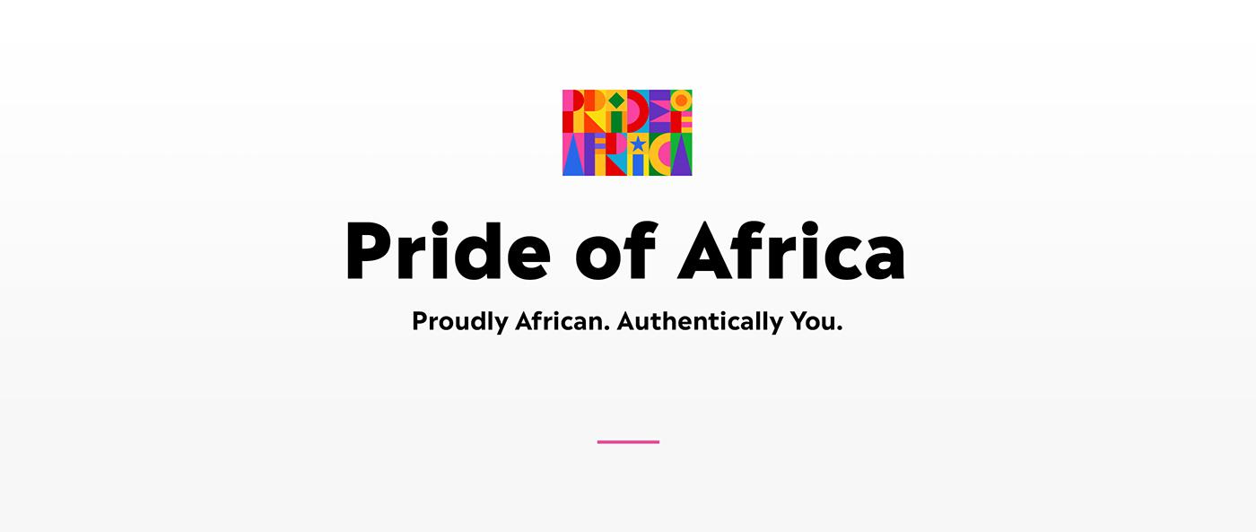 african brand identity digital campaign Gay Pride Johannesburg Pride LGBTQ rainbow Rebrand south african