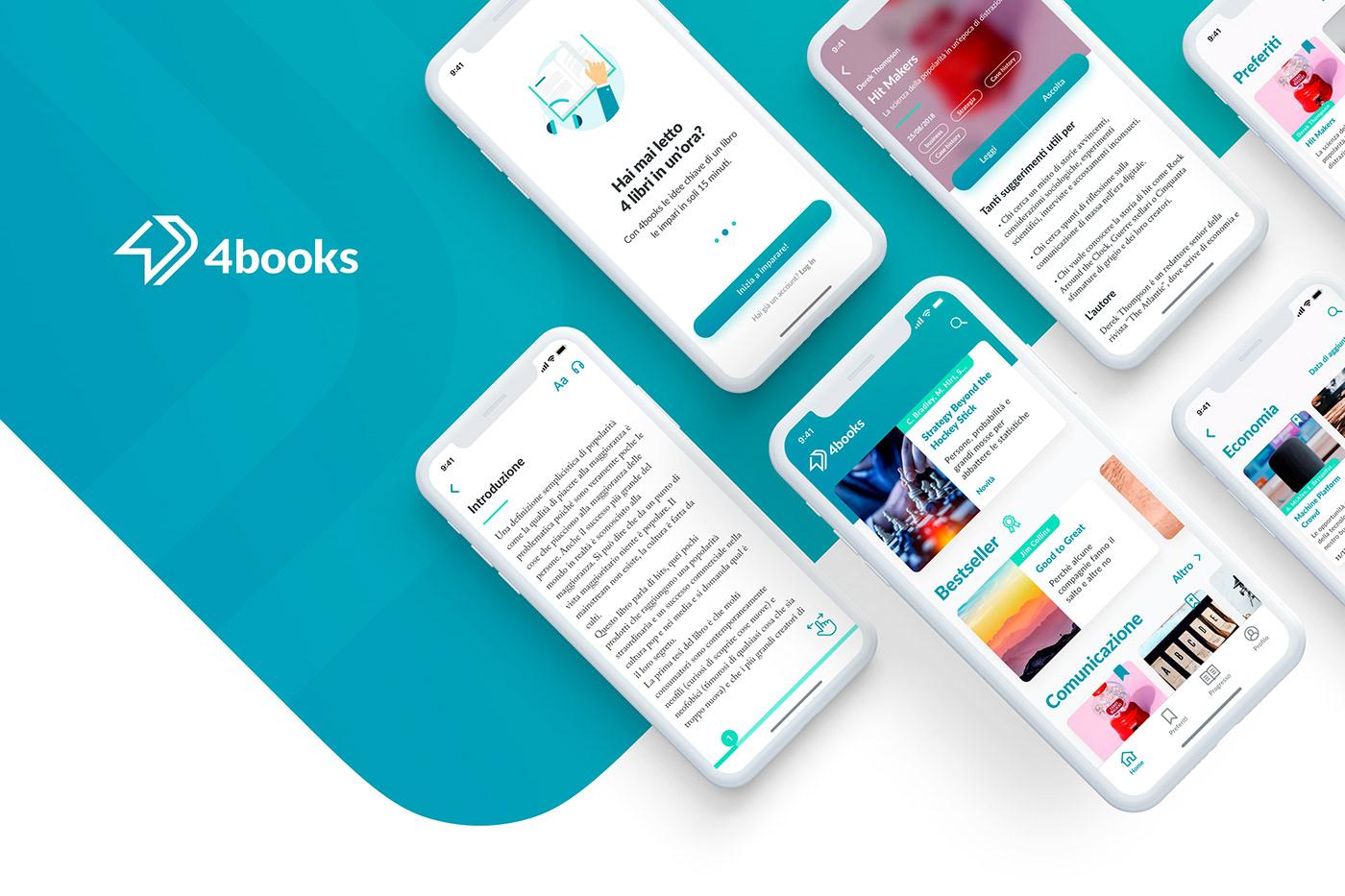 App Di Design 4books | mobile & web app on behance