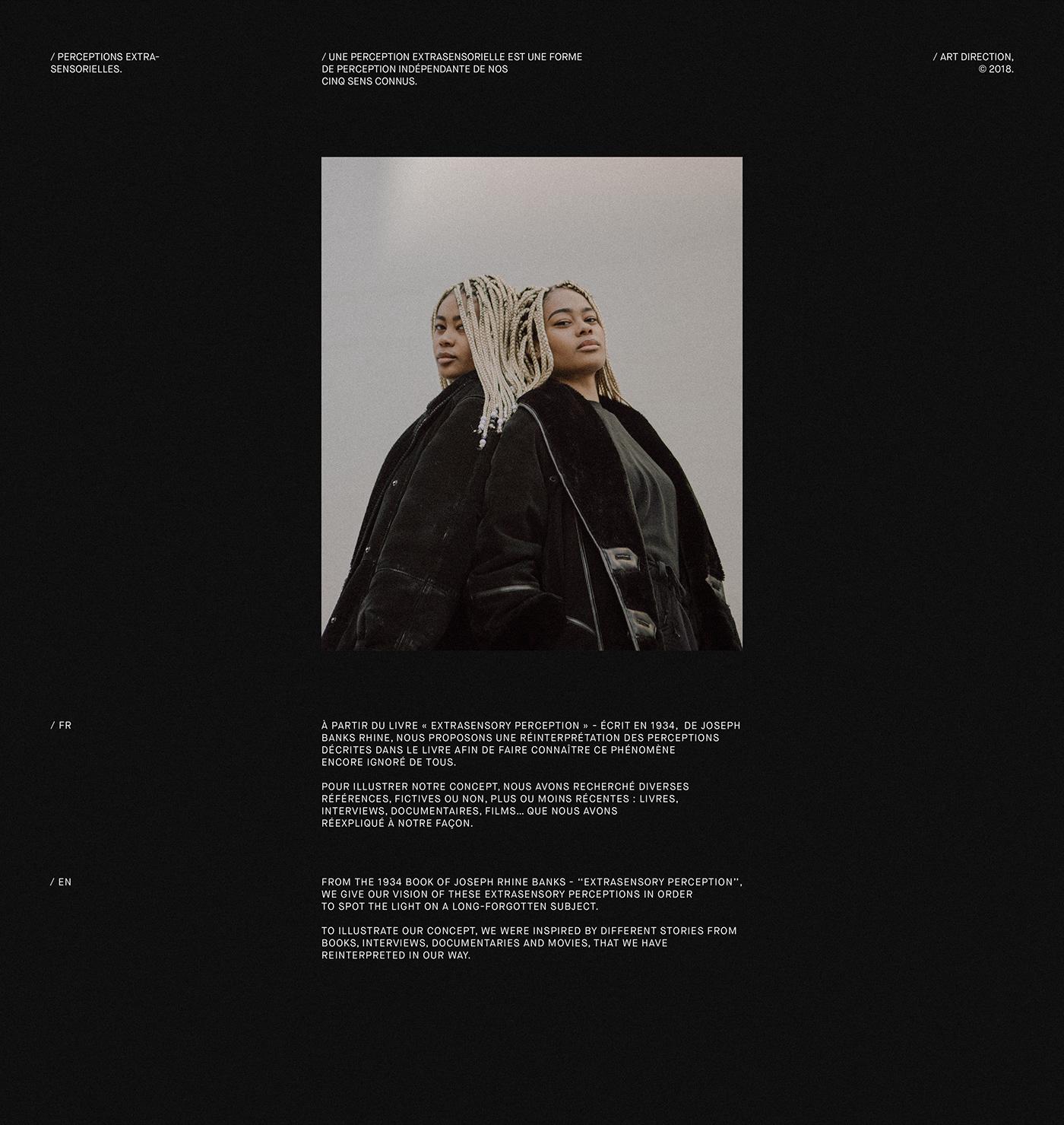 Website Webdesign editorial direction artistique black adobeawards