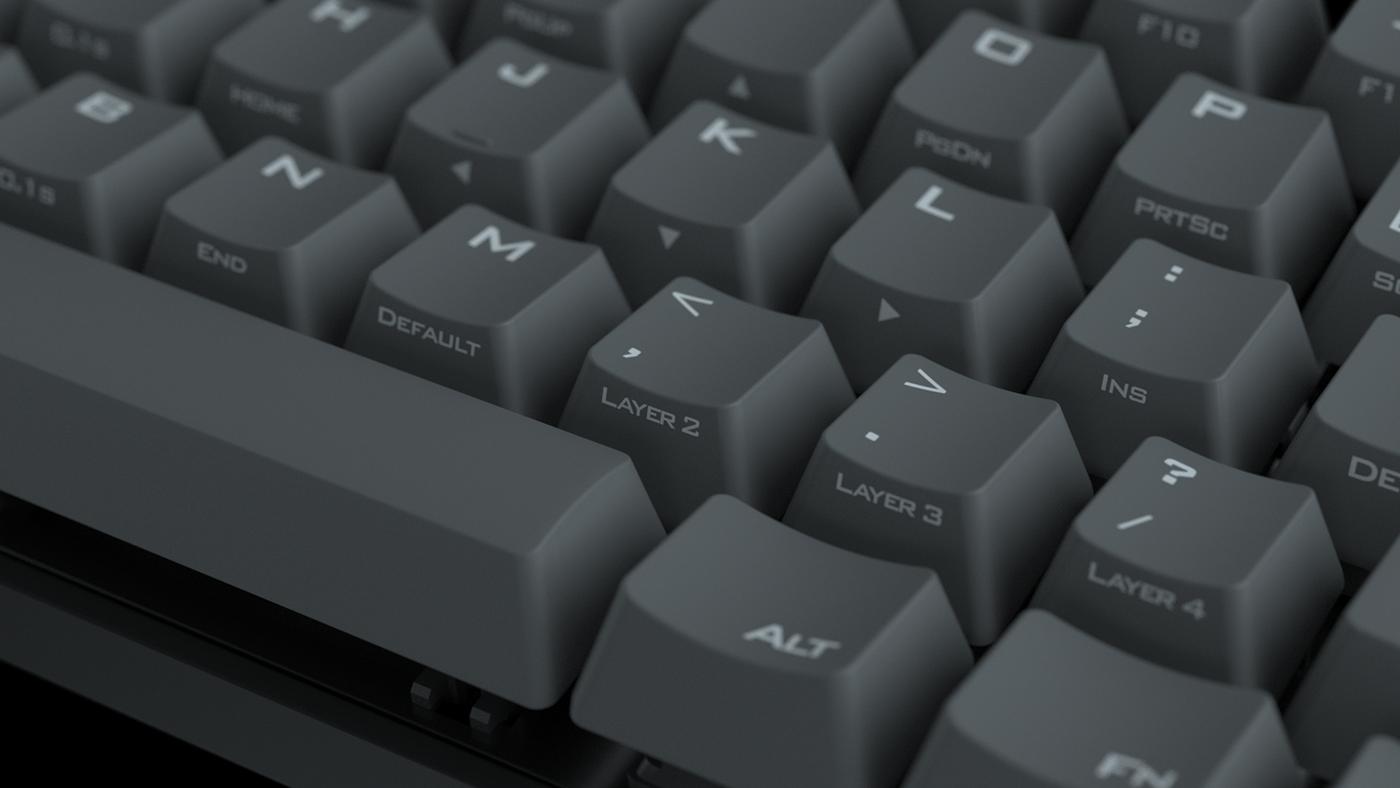 Vortex POK3R Keyboard Visualization on Behance