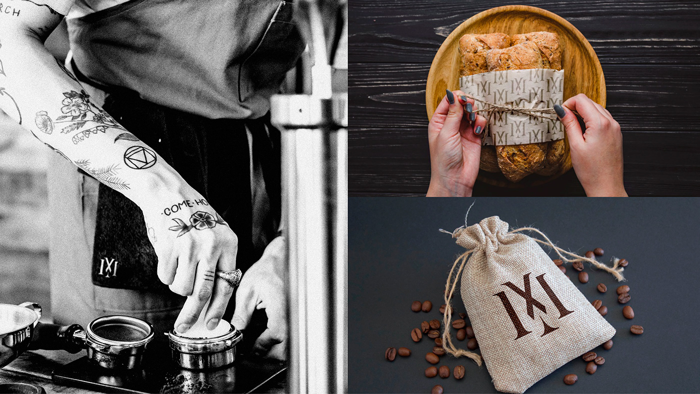branding  graphic design  Morningstar hell darkness dark identity Coffee UI ux
