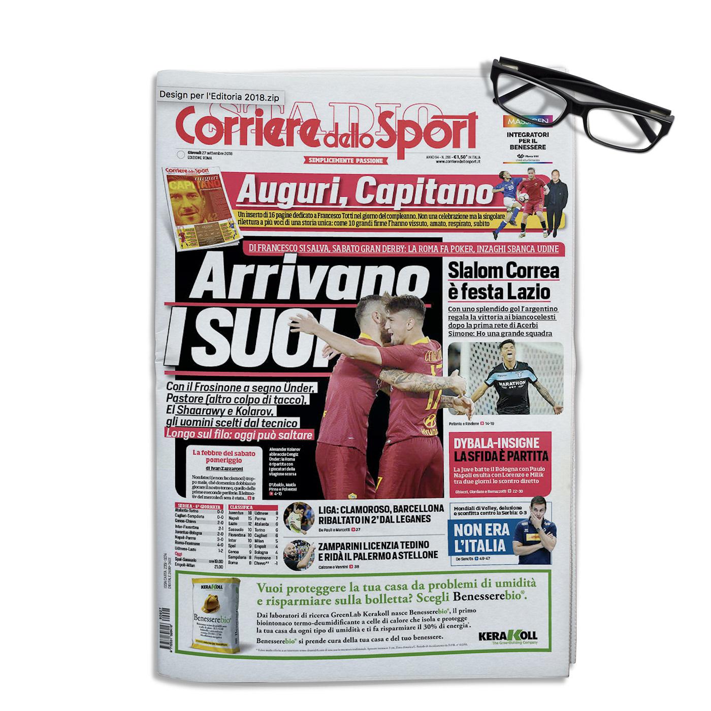 Francesco Mazzenga corriere dello sport STADIO sport calcio soccer design editorial design  Fotografia