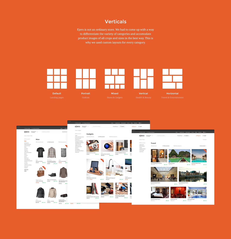 Ecommerce kickflip logo social ejero Shopping flat mobile Responsive