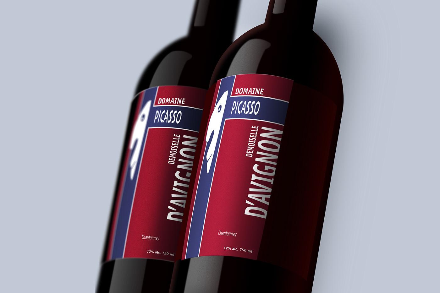 Carte etiquette Picasso vignoble vin