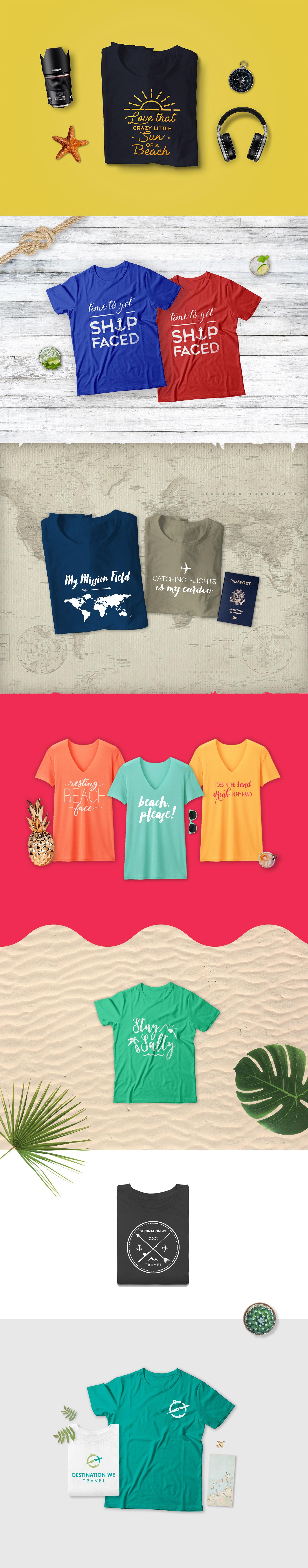 Travel T-Shirt Design salty beach funny t-shirts