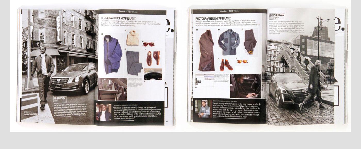 Adobe Portfolio Esquire fashion week cadillac Menswear