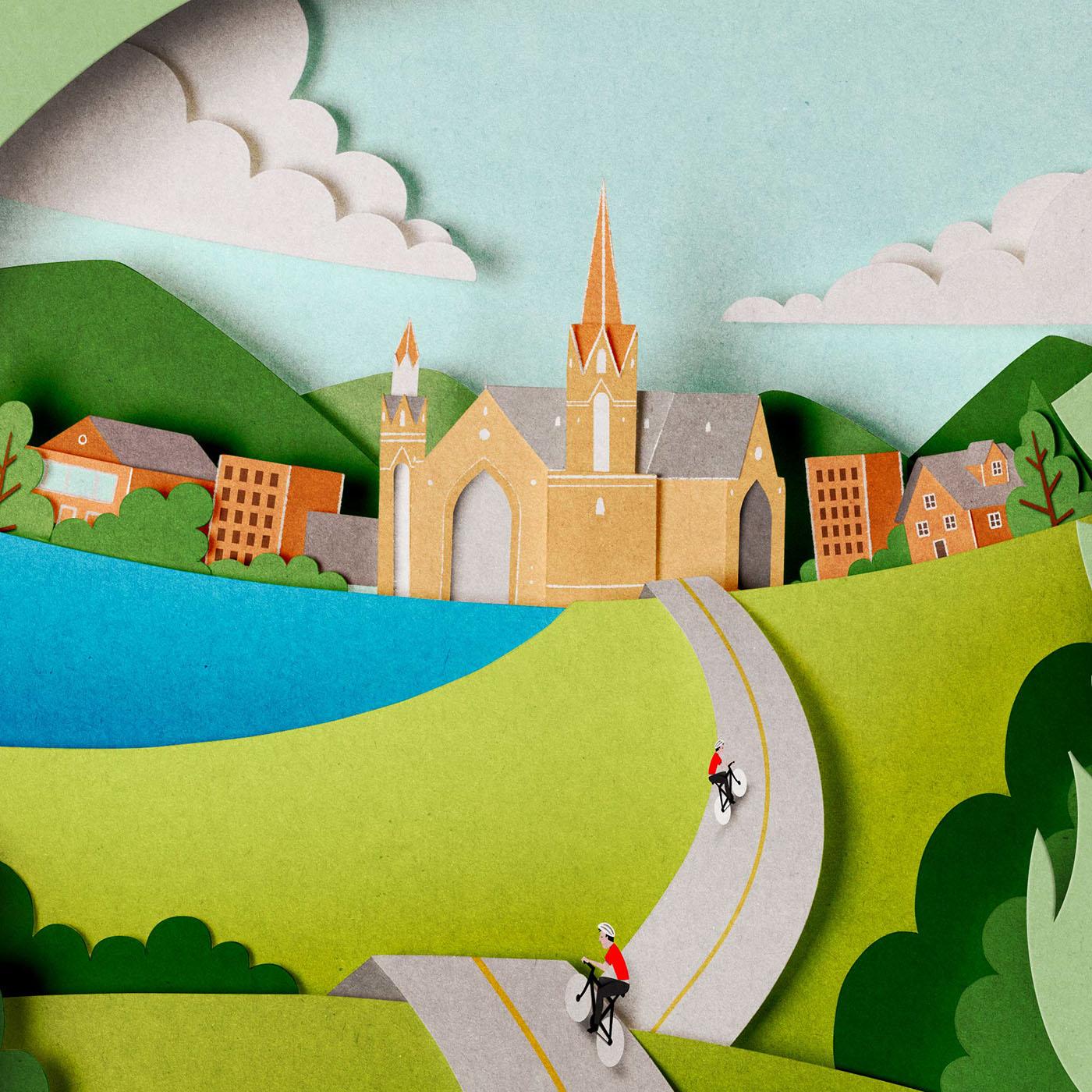 papercut cutout paperart ILLUSTRATION  Advertising  collage craft handmade