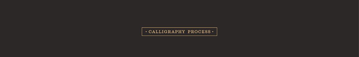 lettering Calligraphy   ruling pen branding  brand restaurant brasserie handmade Handlettering Logotype