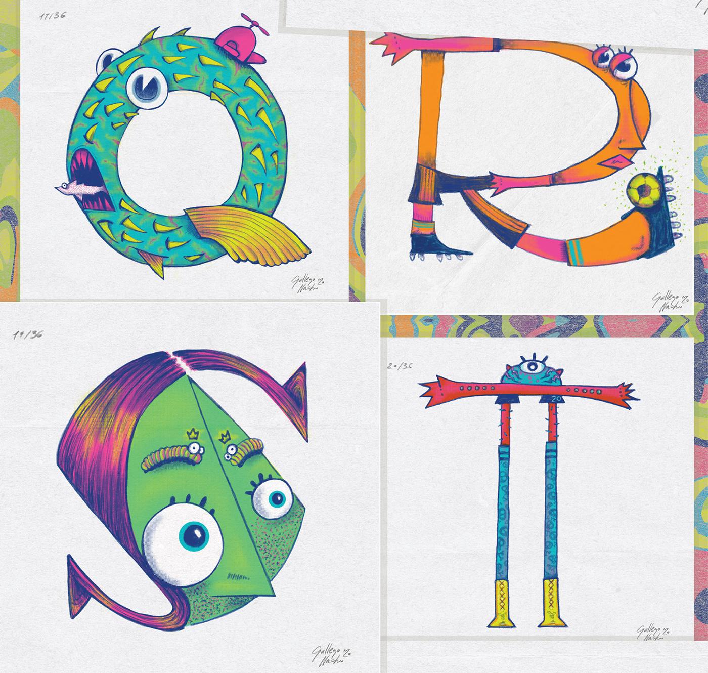 36daysoftype typo alphabet 36daysoftype2020 draw Drawing  pen photoshop Typeface typography