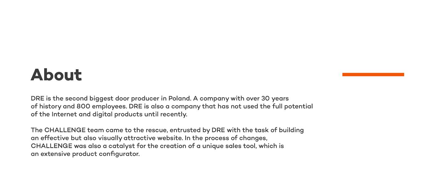 challenge challenge studio configuratior dawid skinder door door manufacturer dre product list UX design