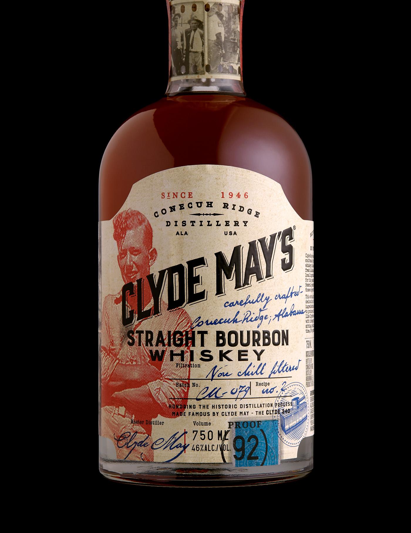 Stranger & Stranger bourbon Packaging clyde may's whiskey