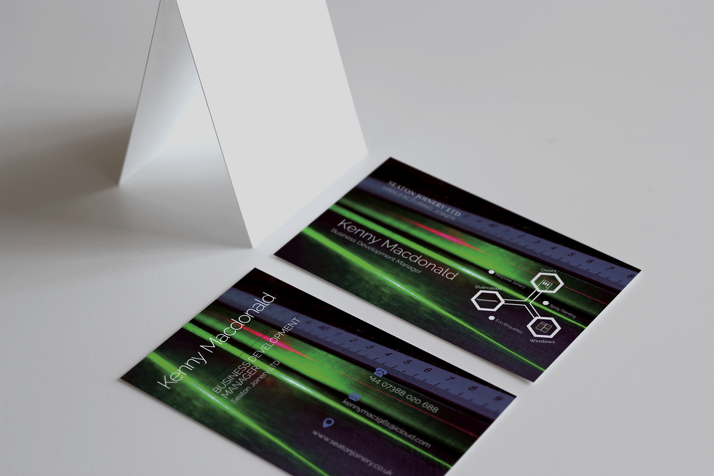 Industrial Project: Z Fold Leaflet & Business Cards on Behance