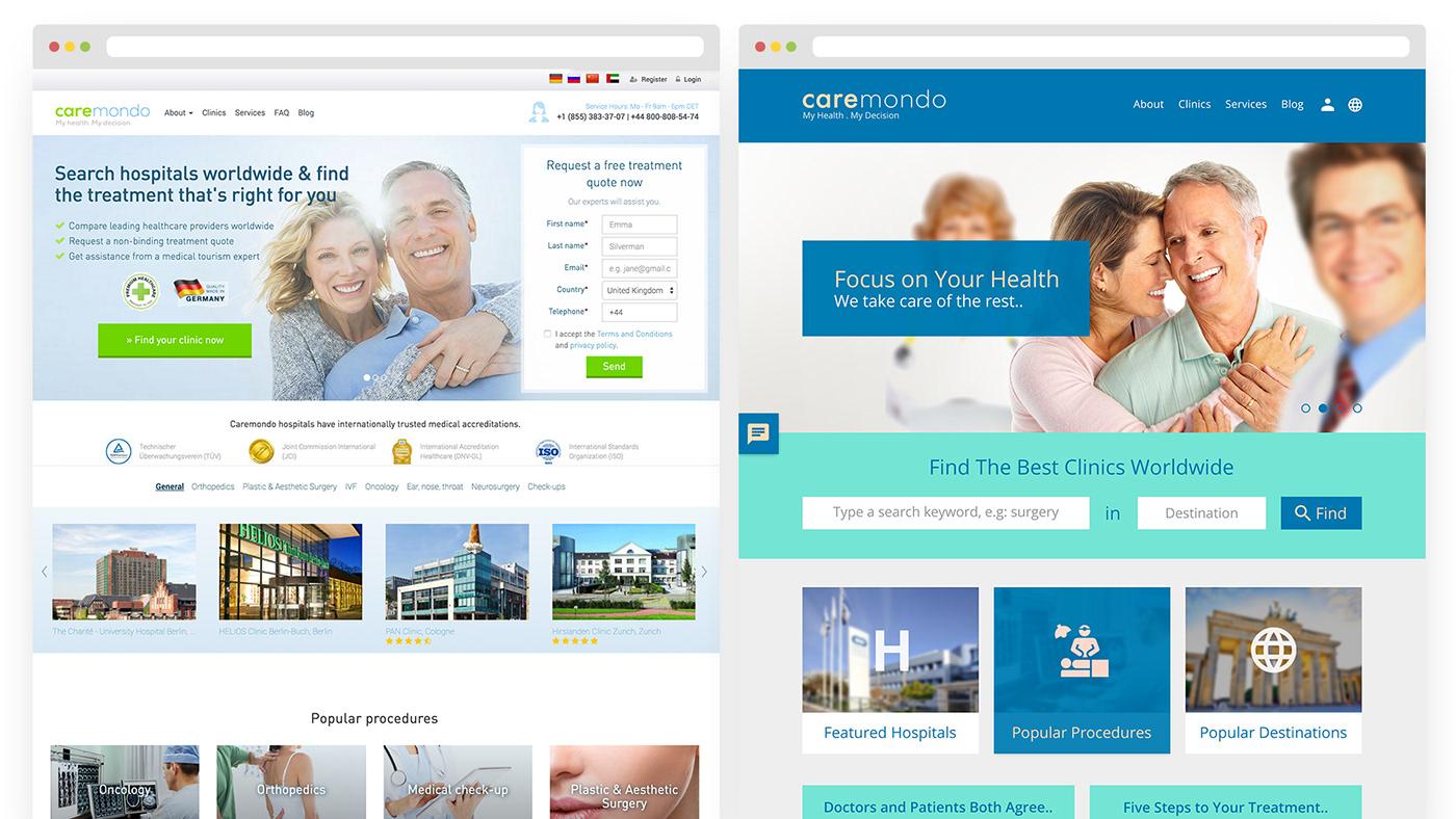 CareMondo Redesign - Home Page