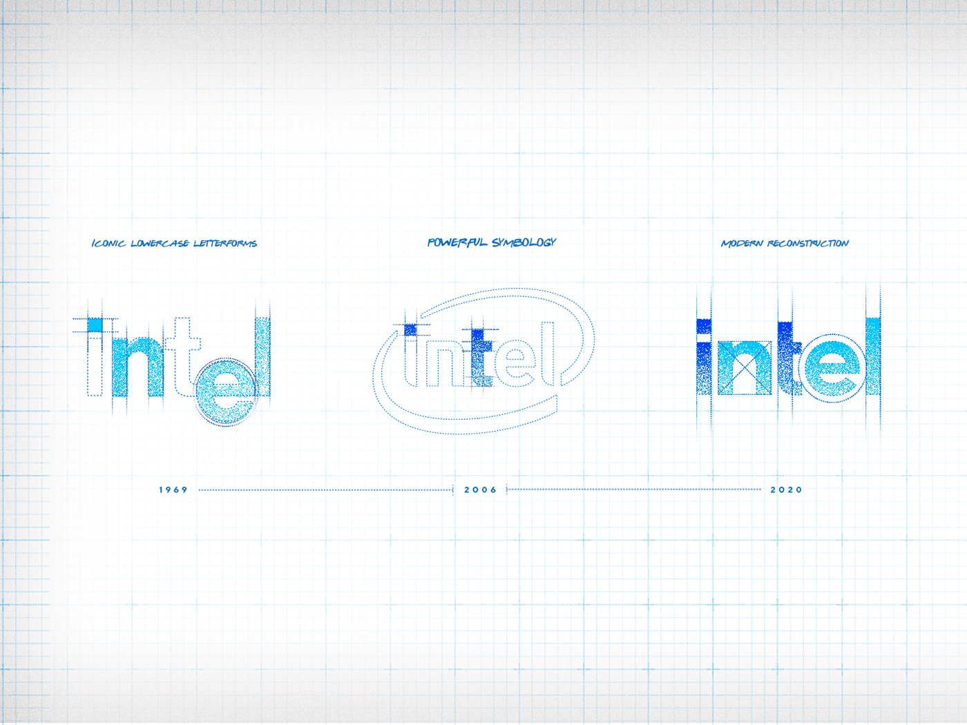 brand branding  design design system iconography identity intel logo Rebrand redesign
