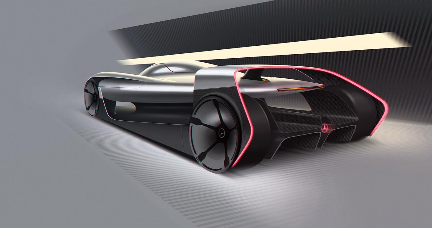 concept,car,mAns,24h,michelin,challenge,futurist,race,mercedes,lmp