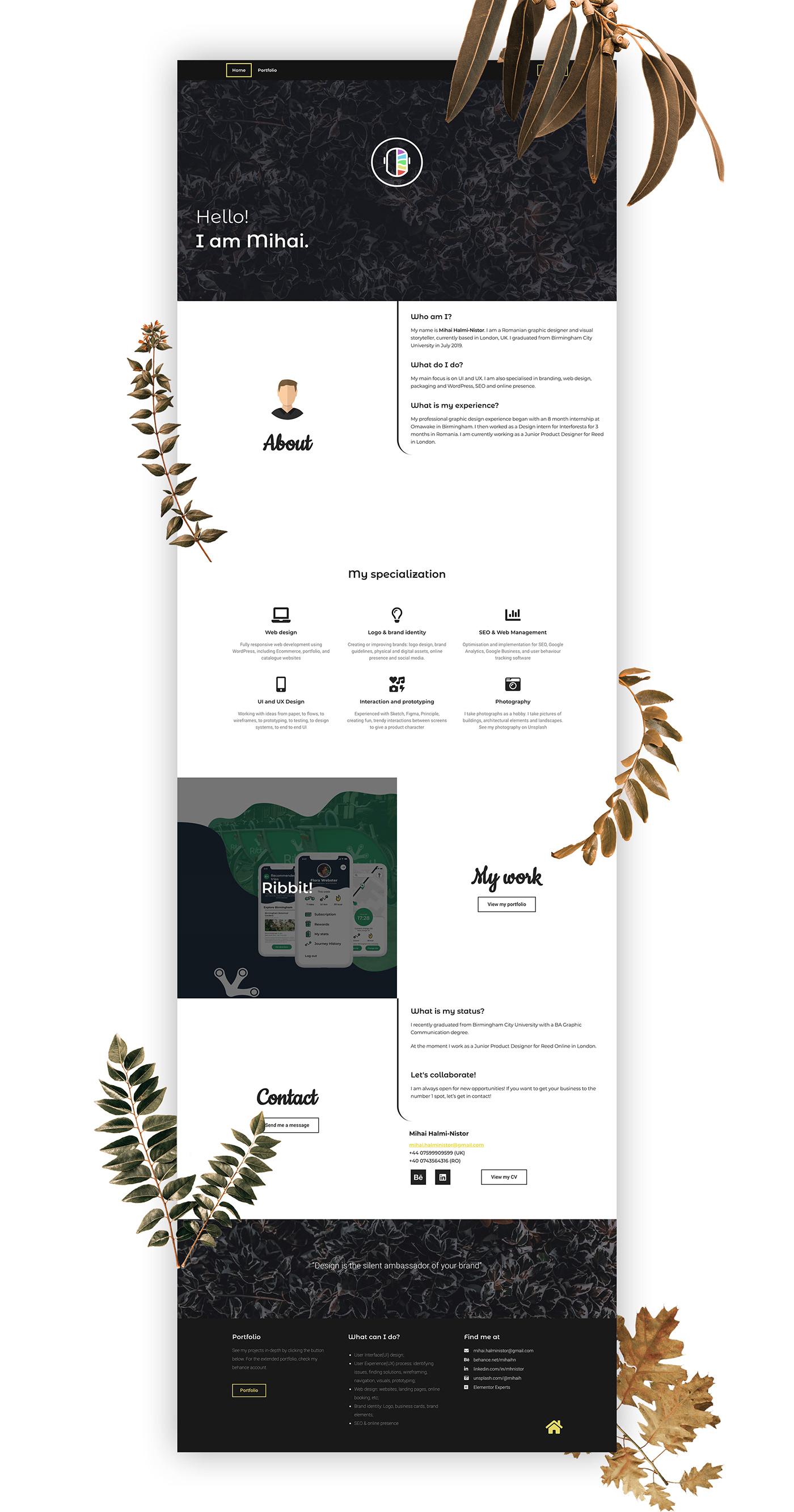 branding ,personal,Webdesign,UI/UX,Website,Personal Brand,personal site,sketch,prototype