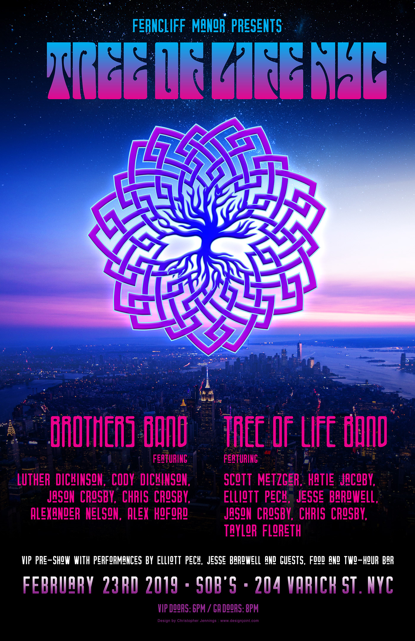 psychedelic groovy lettering poster New York concert benefit charity nyc marketing