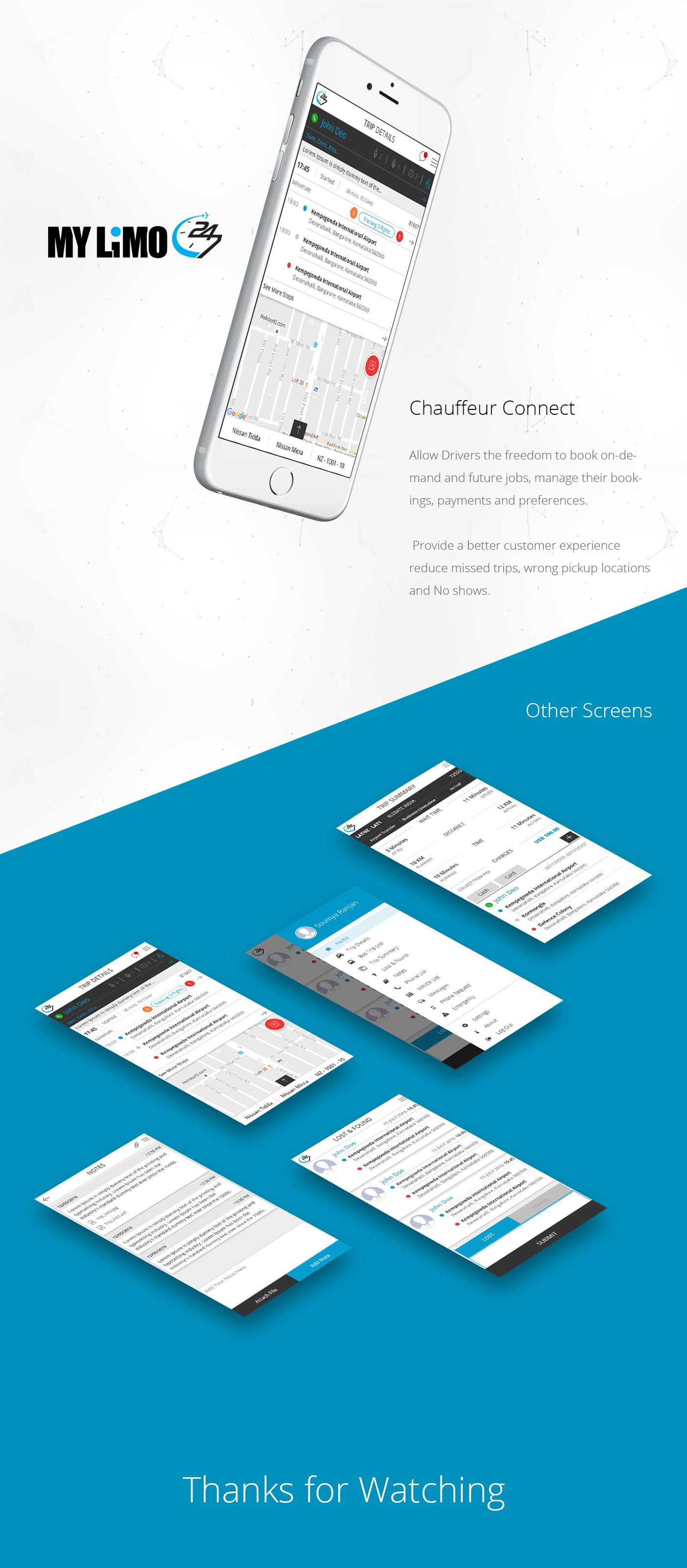 Chauffeur Connect Mobile app