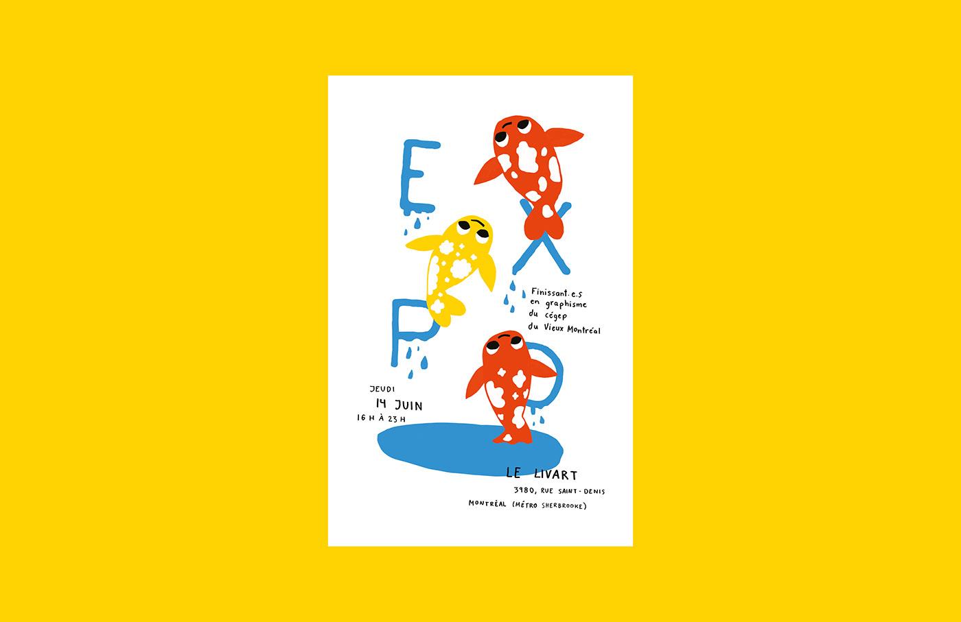 design,poster,fish,silk printing,splash,cvm