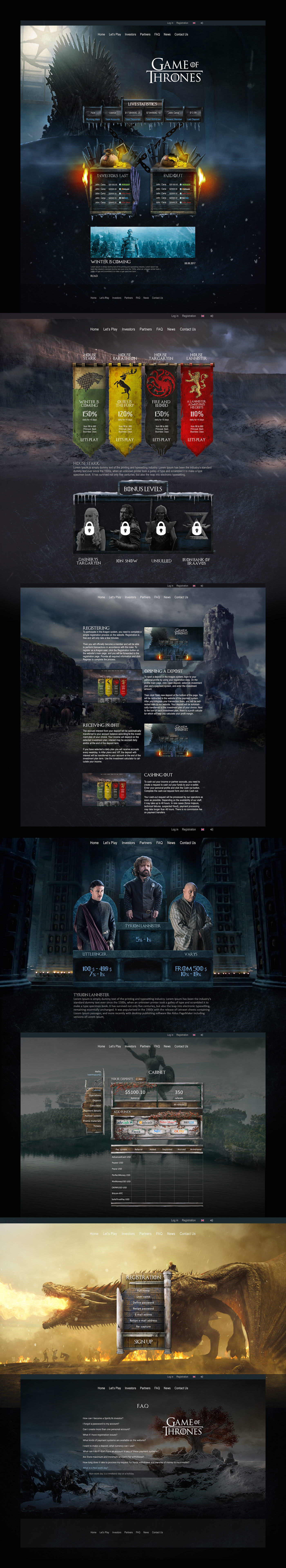 Game of Thrones Web collage