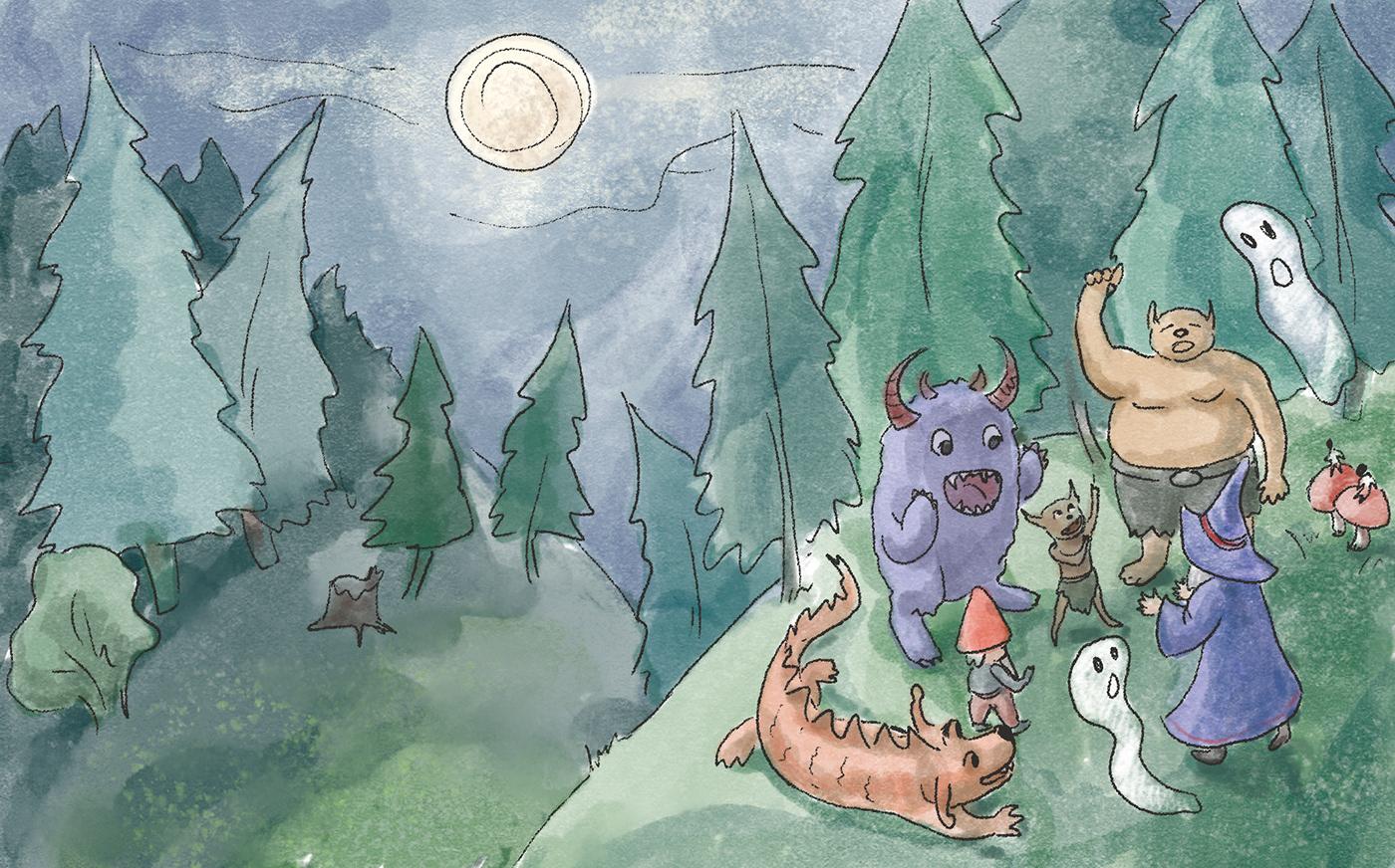 book ILLUSTRATION  children illustration children book digital painting