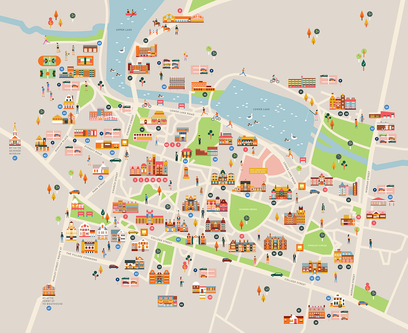 Mount Holyoke College Campus map on Behance