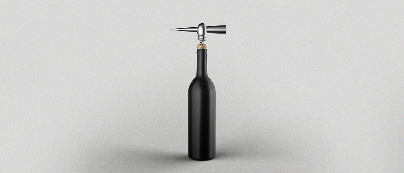 drop wine write Diary corkscrew Opening bottle minimal pen literature