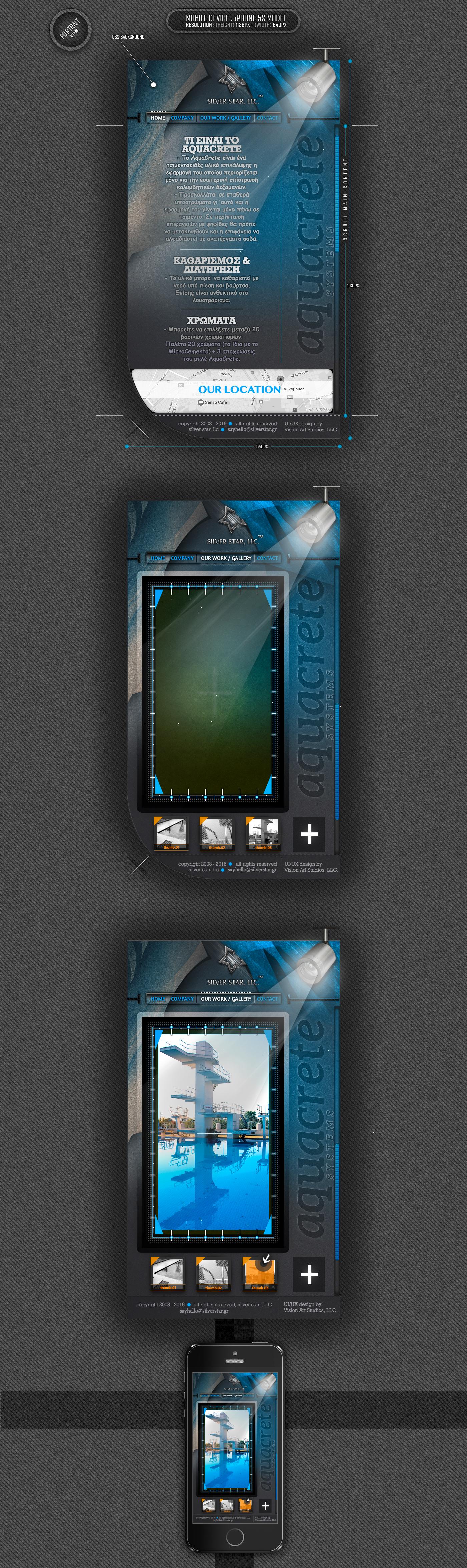 konstantinos papalazarou papalazarou konstantinos visionartstudios vision art studios Silver Star swimming pools vision art UI ux ui design UX design Responsive Design mobile design css3 html5