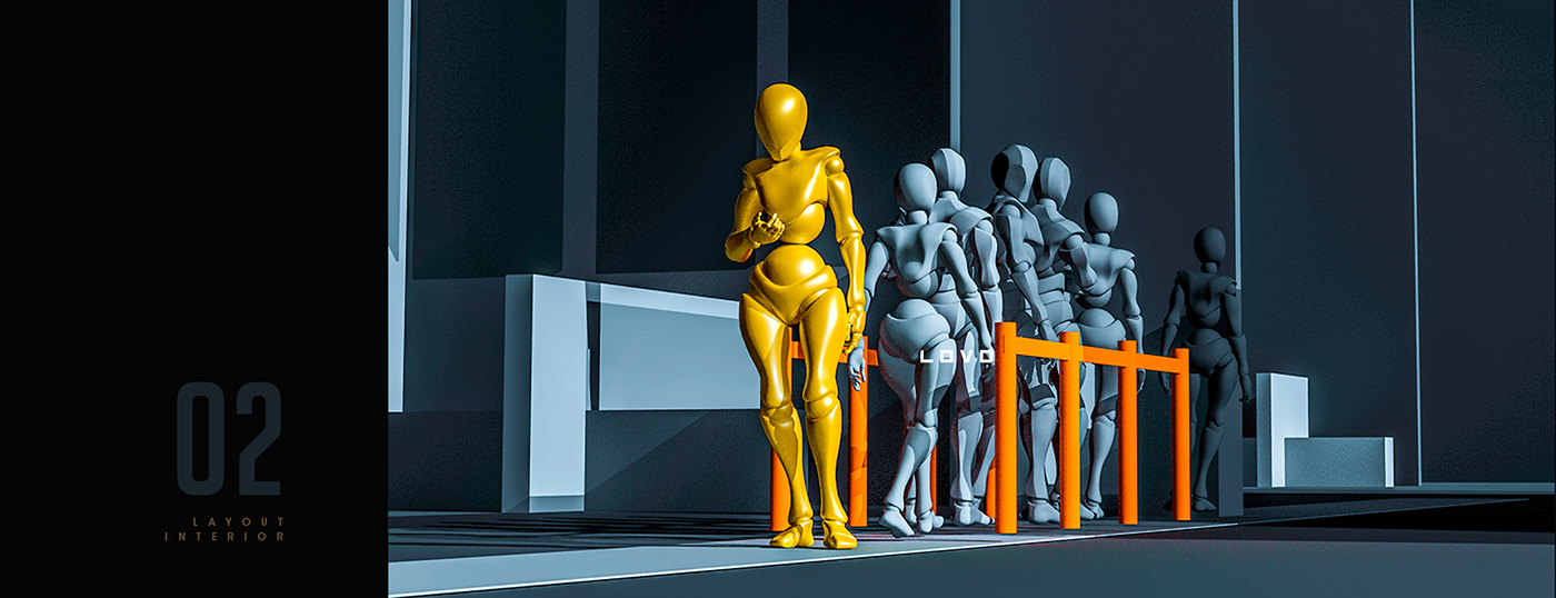 banco banco pichincha Bank CG 3D Render Character print color