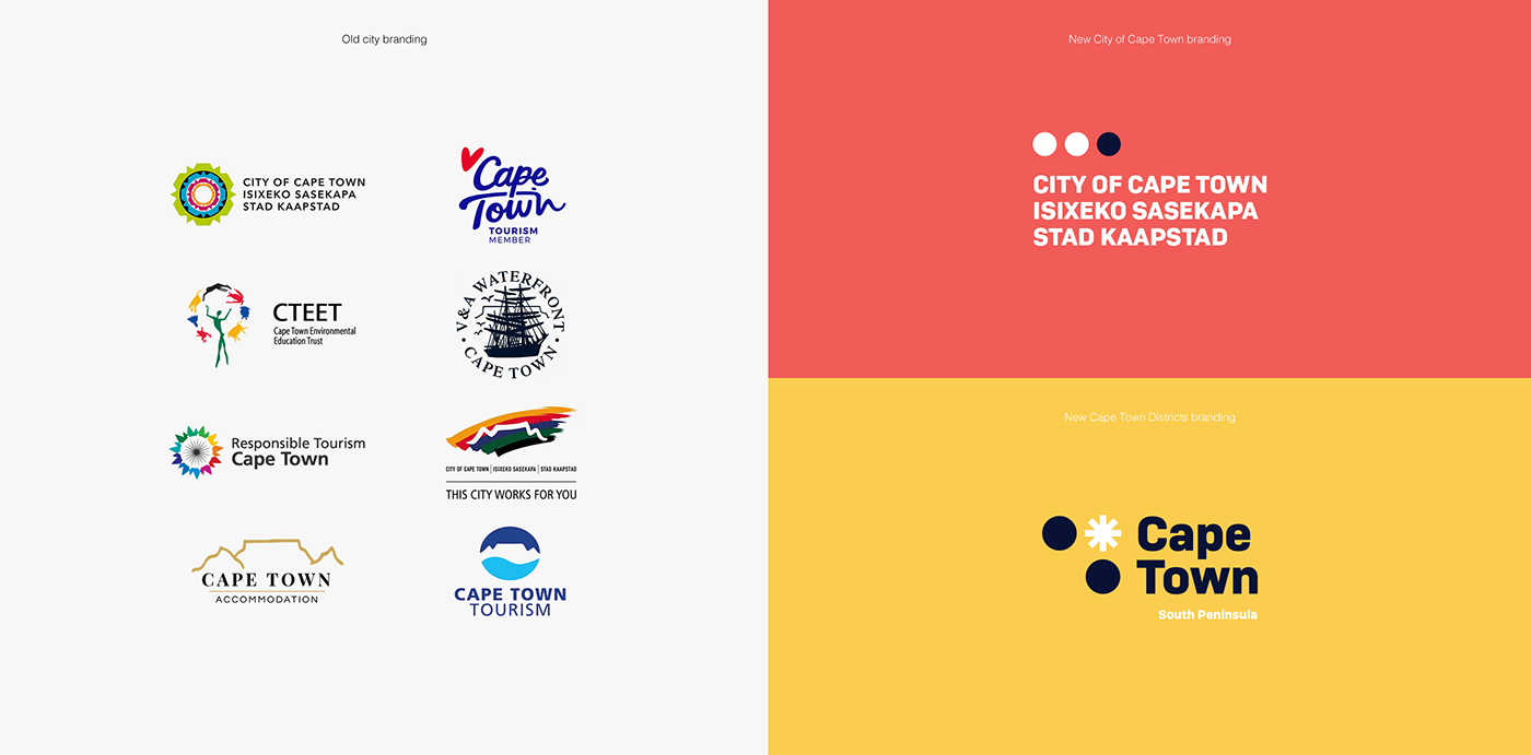 rebranding City Brand city rebranding cape town south africa table mountain Kaapstad Corporate Identity corporate modern