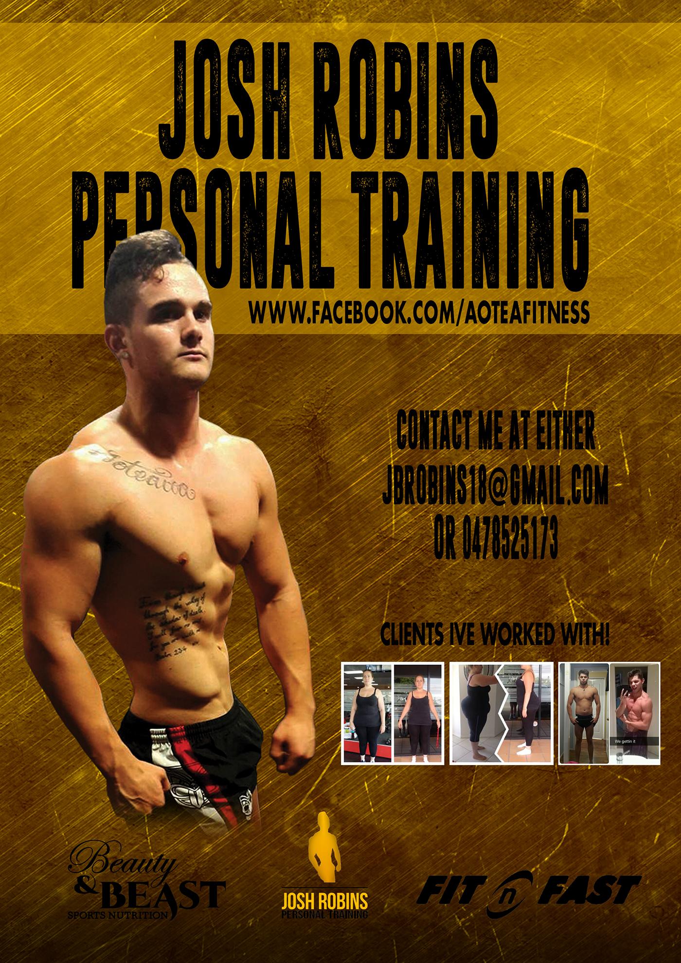 josh robins personal training advertising on behance