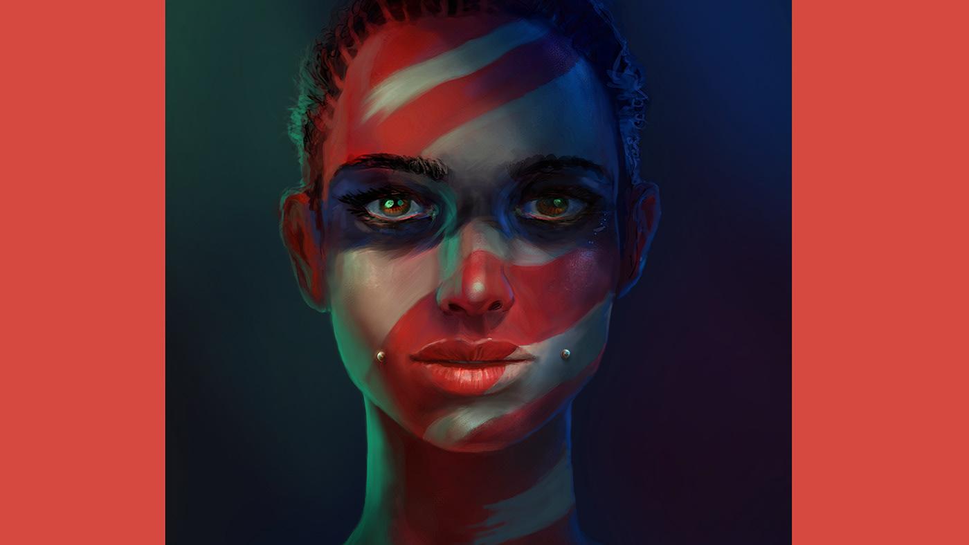 Affinity Photo digital painting ILLUSTRATION  iPad portrait