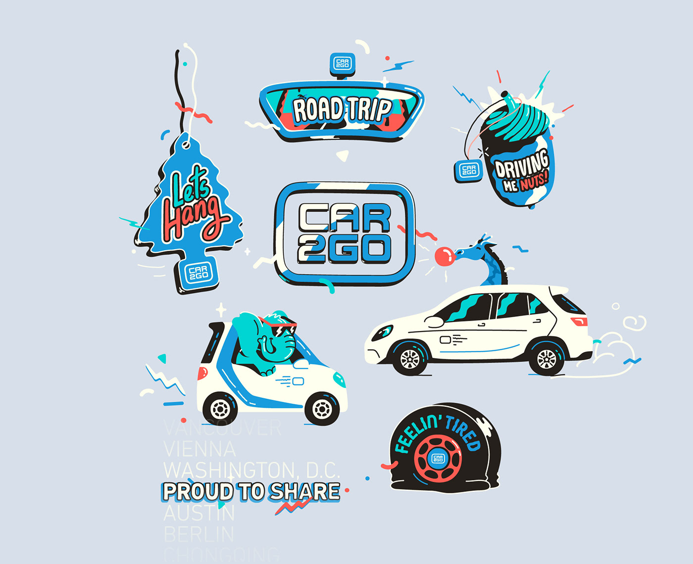 vector animation  loop gif giphy motion flat toon boom ILLUSTRATION  Icon