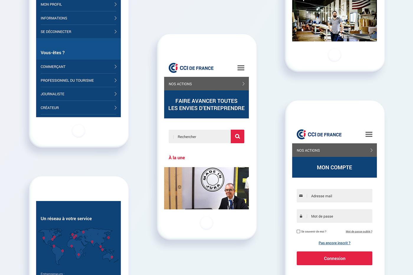 cci chambre de commerce ux UI Webdesign Marketplace rebranding branding  art direction  app store