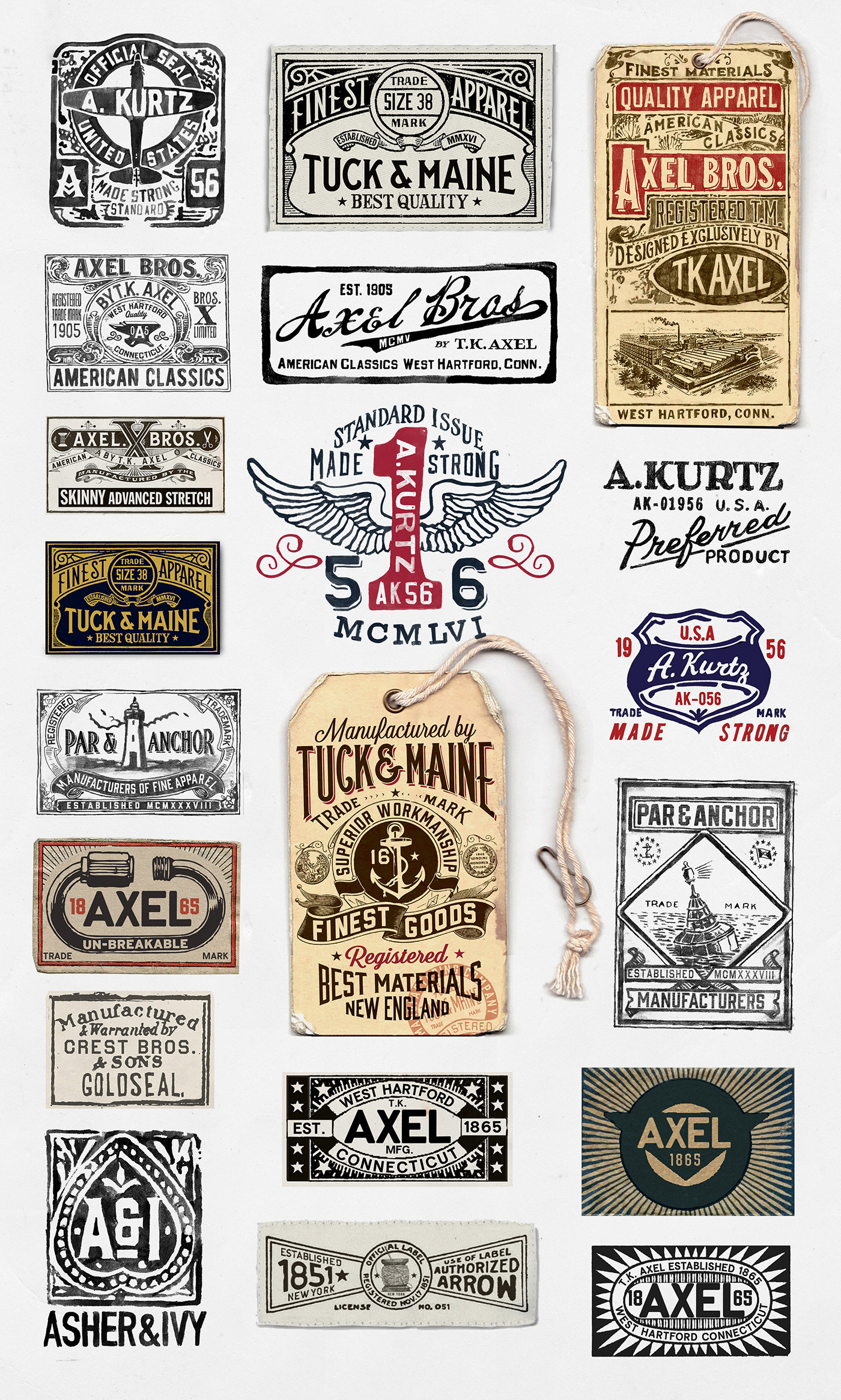 images This Instagram Account Tracks Vintage Clothing Labels—and the Result Is OddlyFascinating