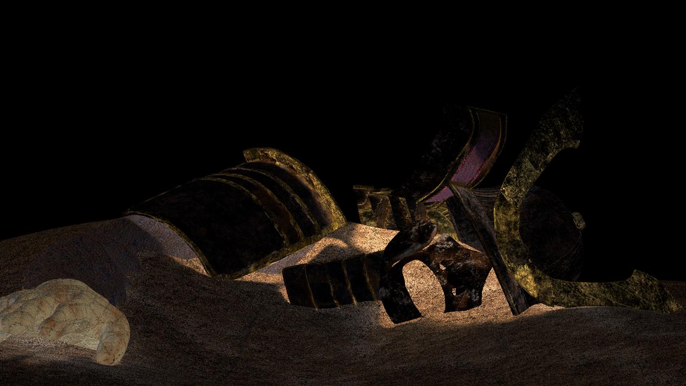 samurai autodesk maya Maya Zbrush nuke photoshop 3D 3d art 3d modeling 3D Texturing