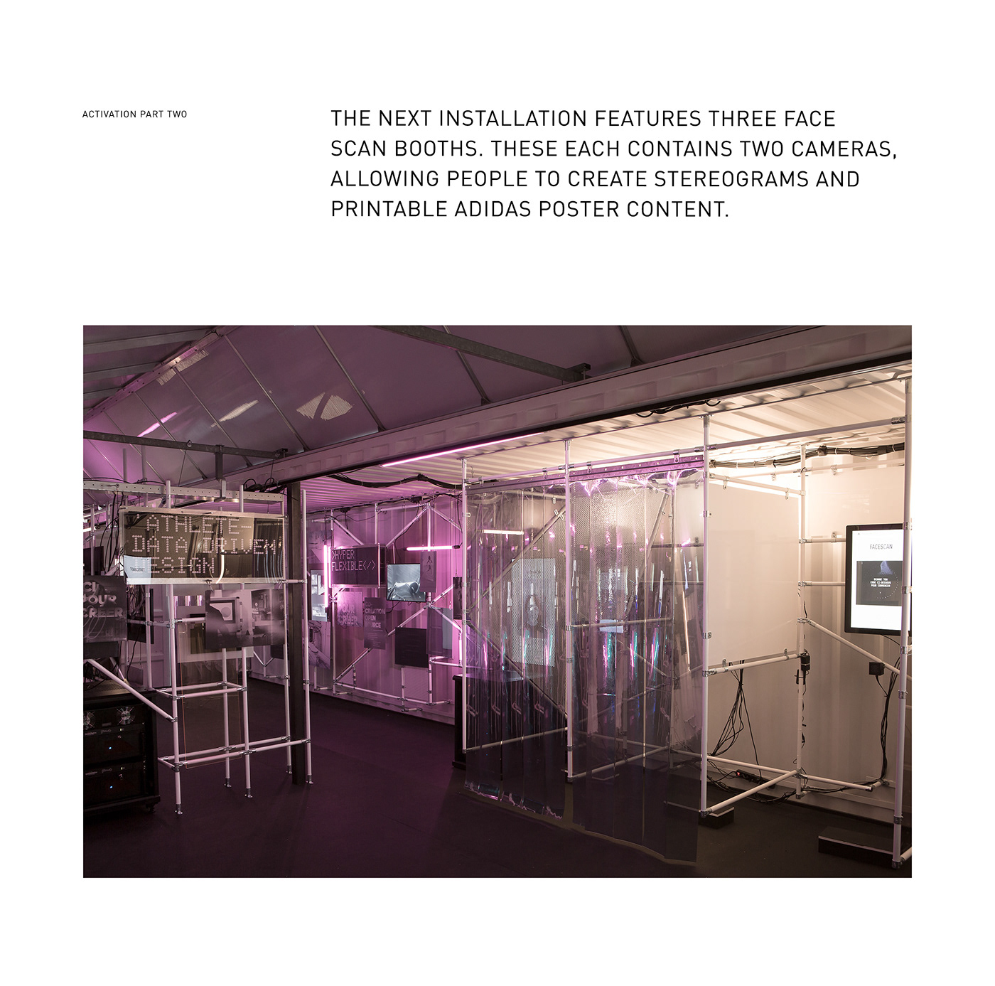 adidas activation sport installation UI ux mobile content Experience Global